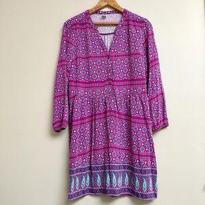 Old Navy purple paisley print boho dress
